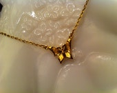 Vintage Hallmark Gold Tone Butterfly Necklace