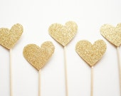 Cake Topper / Cupcake Topper in Sparkly GOLD - Perfect for New Years