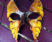 Reserved: Golden Monarch Butterfly Masquerade Mask