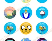 Adventure Time Printable Cupcake Topper - Party Printables - Adventure Time