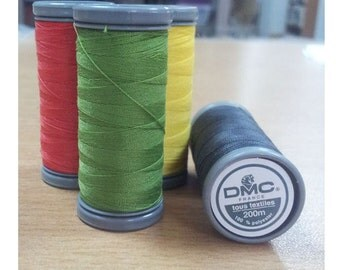 5 DMC Sewing threads, 100 % polyester, 200 meter - choose colours