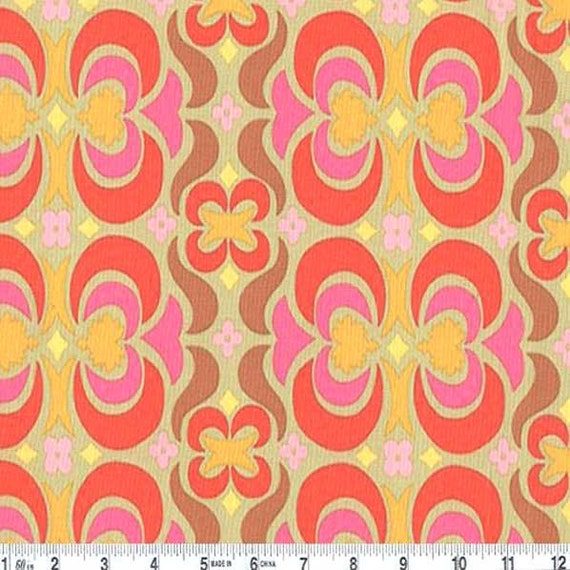 Garden Maze Tan - One Yard  -  Amy Butler Fabric - Midwest Modern II Collection