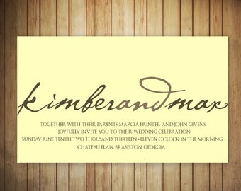 Custom Invitation for Wedding - Printable
