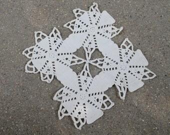 Vintage Snowflake Doily Trivet