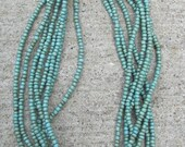 Multi Layer Seed Bead Turquoise Necklaces