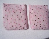 Flax Seed Handwarmers Microwave Set of 2 Pink