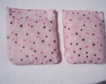 Flax Seed Handwarmers Microwave Set of 2 Pink