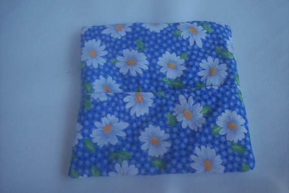 Daisys, Flowers, Spring, Summer, White Daisys   Microwave potato bag,