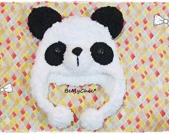 Blythe Pullip Dal Doll Outfit Dress Cloth - Cute & Soft Panda Knit Hat Helmet