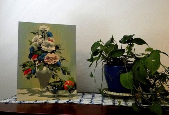 Vintage flowers paint by numbers