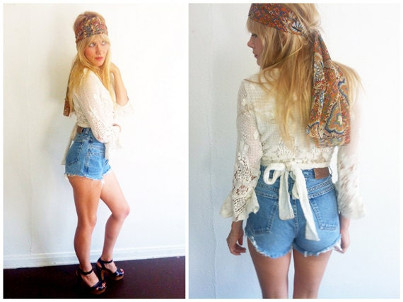 High Waisted Cut Off Jeans | Bbg Clothing