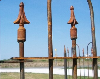 6' Tall Wrought Iron Stake for Garden Use or with Our 6' tall Fencing and Gates
