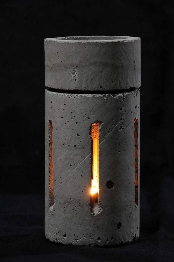 Cement Candle Holder Fragrance Crystal Heater 1