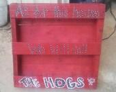Arkansas Razorback pallet shelves