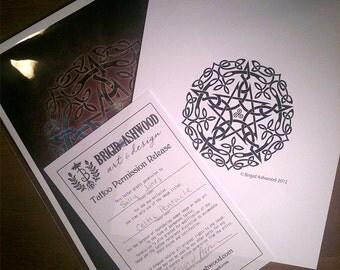 Tattoo Permission Kit -  Pagan Wiccan - Brigid Ashwood
