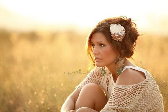 Womens Hair Clip... Womens Headbands... Country Wedding Hair Piece