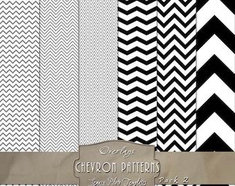 Chevron Pattern Digital Overlays - Pack 2