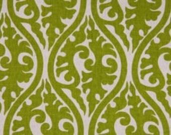 Handmade Curtain/Window Valance 50W x 15L in Chartreuse Kimono, Home Decor,