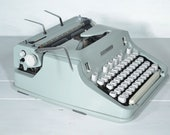RESERVED//Techno Pica Font Hermes 3000 Portable Typewriter in Mint Green