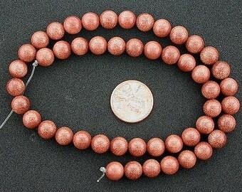 8mm round gemstone goldstone beads