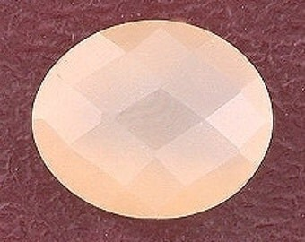 checkerboard 12x10 peach moonstone cabochon gemstone