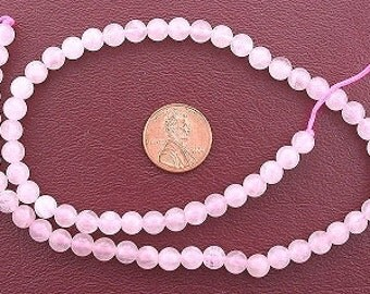 8mm round rose quartz gemstone beads