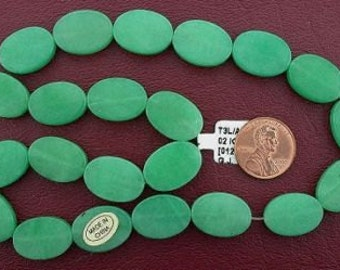 18x13 oval gemstone green aventurine beads