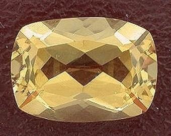 14x10 cushion brandy quartz gem stone gemstone
