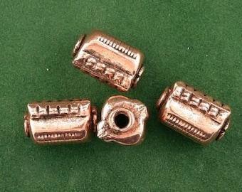 four pure copper 14x8 rectangle square designer bead