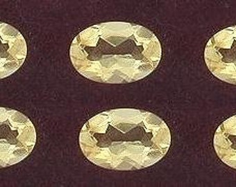 two  6x4 oval citrine gem stone gemstone