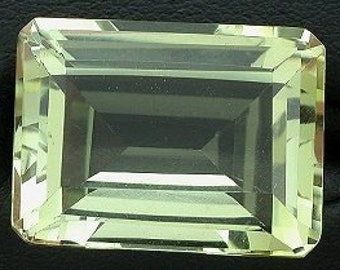 18x13  emerald cut citrine gem stone gemstone