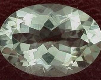 14x10 oval light green quartz gem stone gemstone
