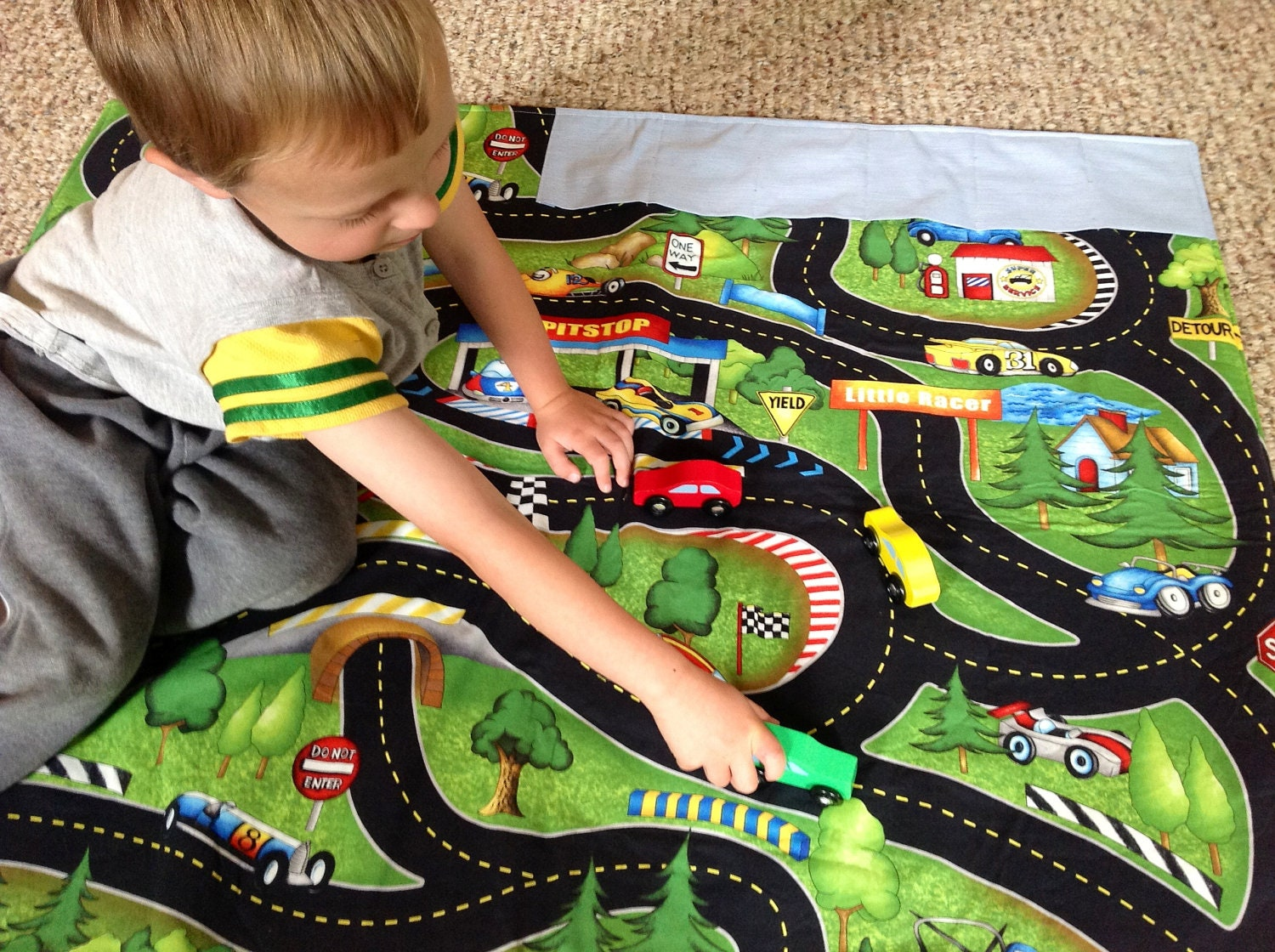 Large Children S Fabric Racetrack Playmat With Parking