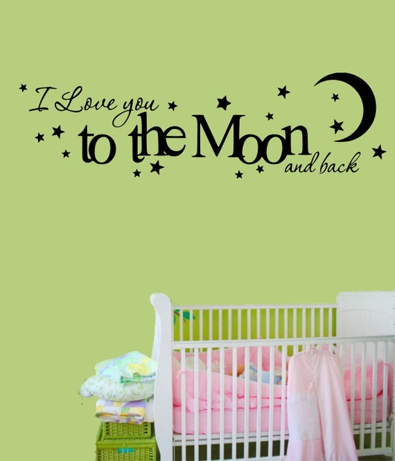 Items Similar To I Love You To The Moon And Back Vinyl: Items Similar To Vinyl Wall Decal