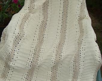 Six Panel Double Crochet Afghan
