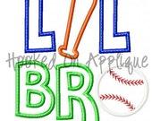 Lil Bro Baseball Applique Design- BUY 3 GET 1 FREE-