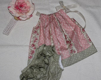 Pillowcase Dress with matching Bloomers