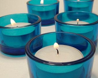 Blue Tealight Candle Holder
