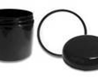 4 Ounce Black Double Wall Jar and Cap - 2 Pack