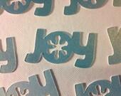 Joy Snowflake Shimmer Embellishment