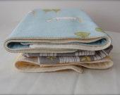3 baby hankies / burp cloths