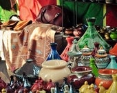 "Colourful Moroccan Market Stall Quality Photo Print - 6"" x 4"" - UK Seller"