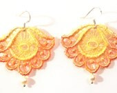 VISIONS OF JOHANA- Taste of Honey- Lace Earrings