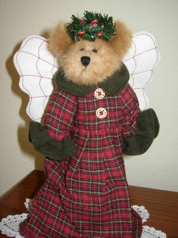 Old Boyd S Bears Christmas Tree Topper Angel