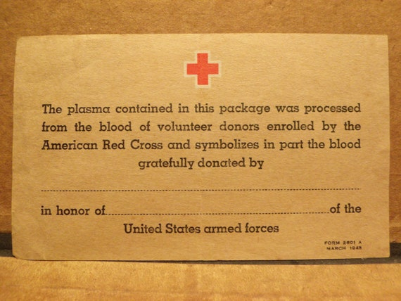 how to read blood donor card