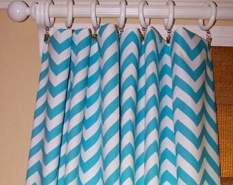 Curtains Ideas chevron curtains blue : Turquoise chevron curtains – Etsy UK