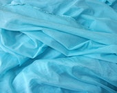 Shear Synthetic Fabric Coral Blue Light Fabric Summer Fabric