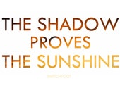 Word Art Print: The Shadow Proves the Sunshine - Switchfoot lyrics quote poster simple sunset red yellow - rdprints