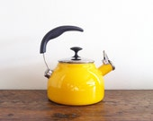 Yellow Whistling Tea Kettle