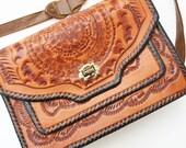 Vintage Tooled Leather Purse SALE